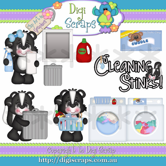 Cleaning Stinks 2 Clip Art Set Clipart By Digiscrapsau On Etsy