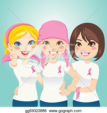 Clipart   Women Supporting And Helping A Friend Fight Breast Cancer