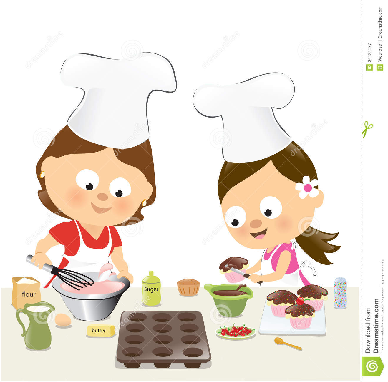 Displaying 17  Images For   Kids Baking Clip Art
