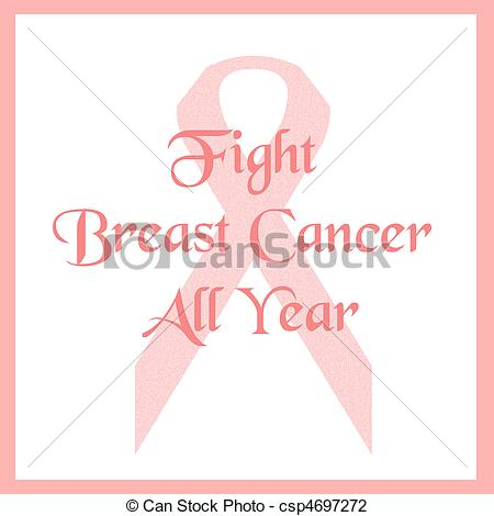 Fight Breast Cancer Poster Illustration Csp4697272   Search Clipart