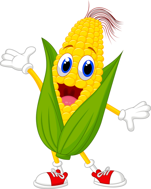 Funny Corn Cartoon Styles Vectors 02   Vector Cartoon Free Download
