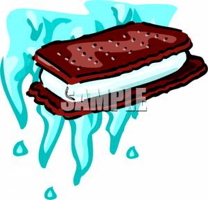 Ice Cream Sandwich   Royalty Free Clipart Picture
