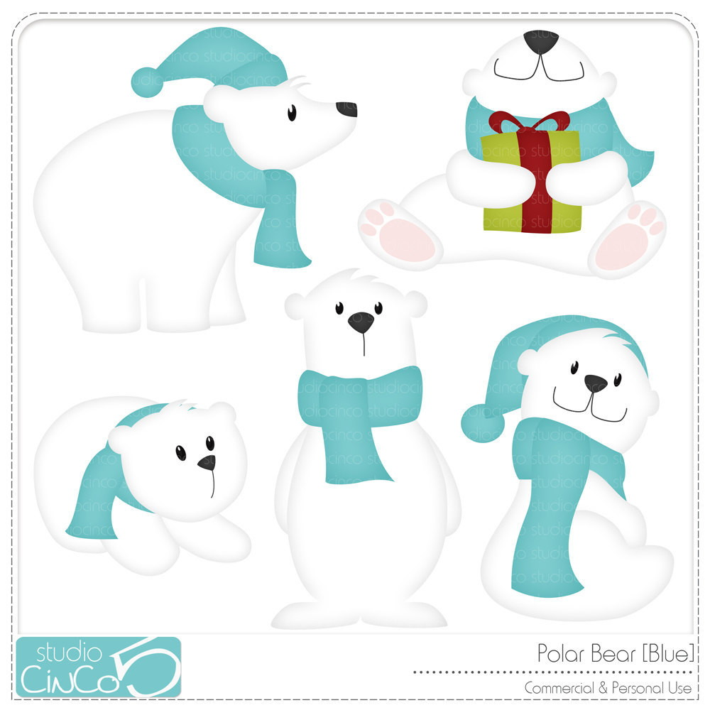 In Cio   Papel E Cia   Scrapbook   Polar Bear  Clipart Digital