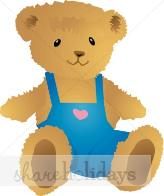 Like Cartoon Teddy Bear Teddy Bear In Diaper Stylized Teddy Bear With