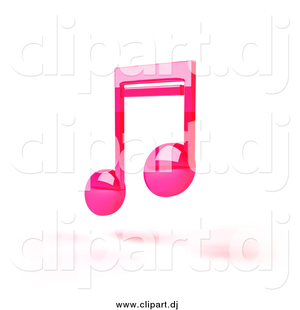 Pink 3d Music Notes And Shadow Music Clip Art Julos