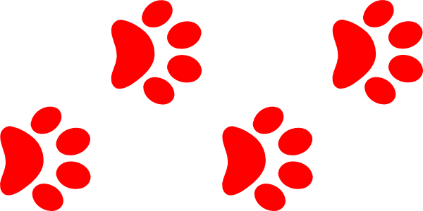 Clip Art Red Paw Clipart - Clipart Kid