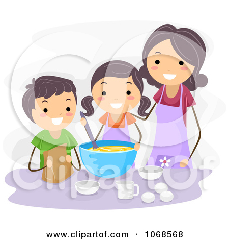 Mom Making Cookies Clipart - Clipart Suggest