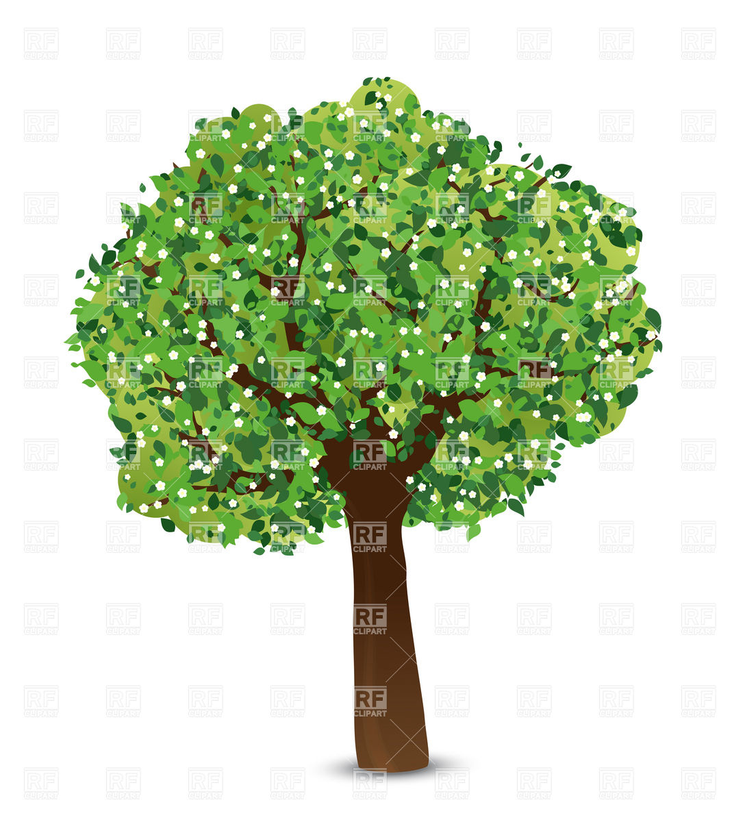 clipart trees and flowers - photo #32