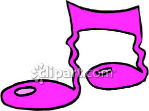 Squiggly Pink Music Notes   Royalty Free Clipart Picture