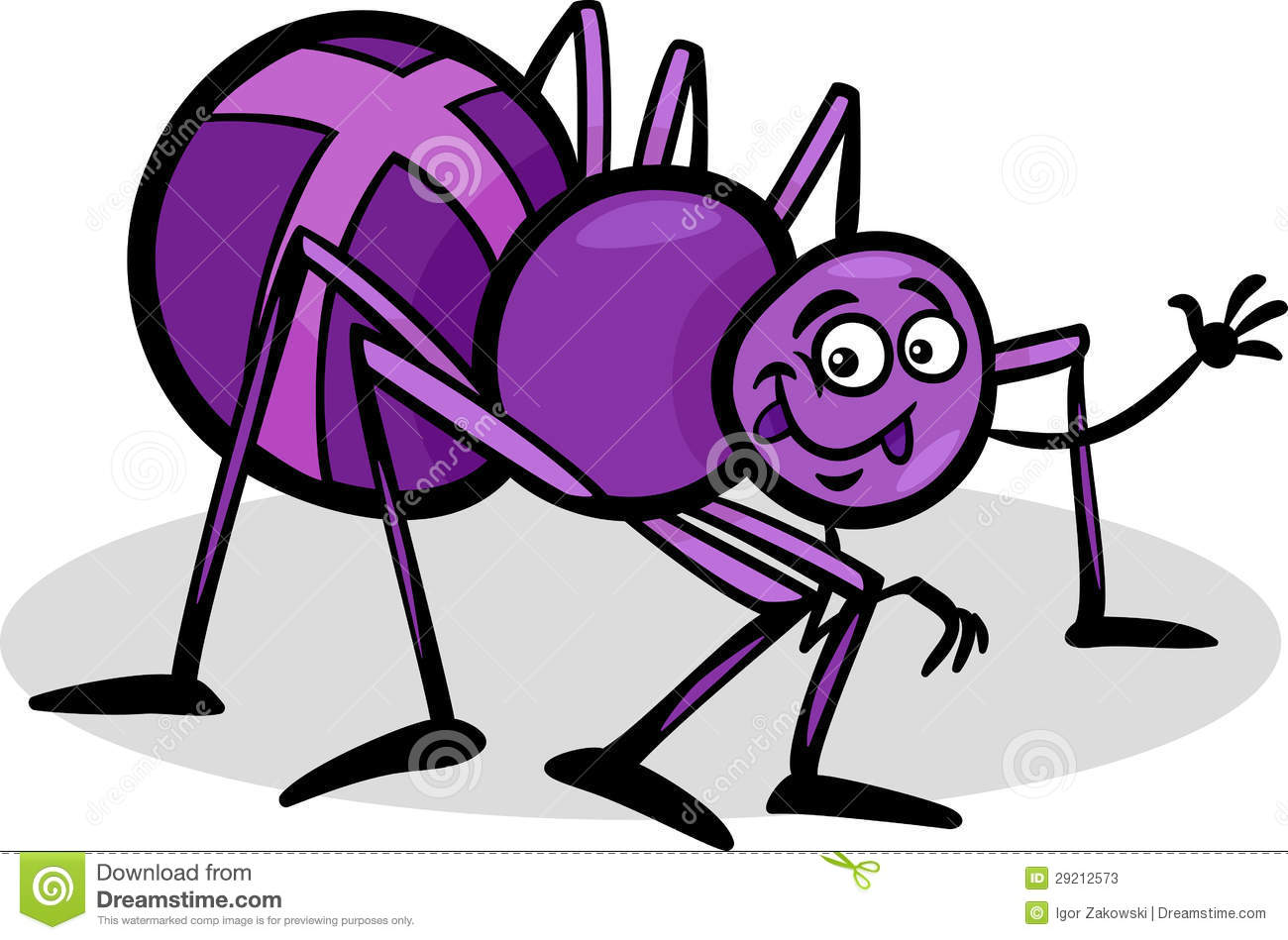 Stock Photos  Cross Spider Insect Cartoon Illustration