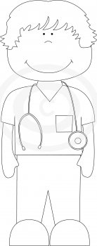 Whimsydoodlegraphics Comnurse Male Nurse Pattern
