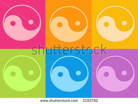 Yin Yang Symbols   Computer Generation Clipart Stock Photo 2193792