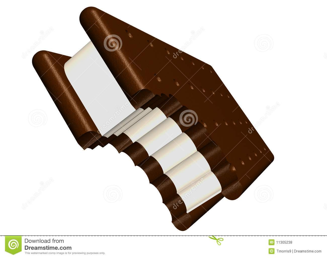 Yummy Ice Cream Sandwich Royalty Free Stock Photos   Image  11305238