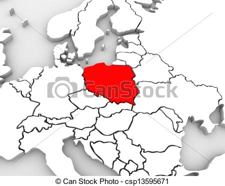 An Abstract 3d Map Of Europe And The Northern And Eastern Region With