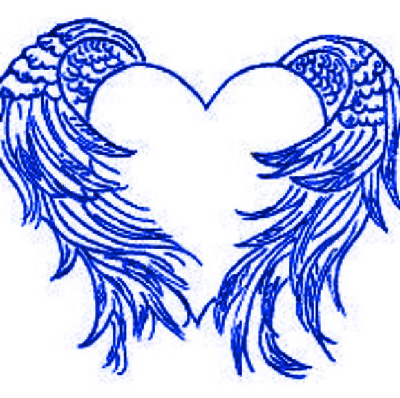 Blue Heart   Blue Wings By Darkangel15414 On Deviantart