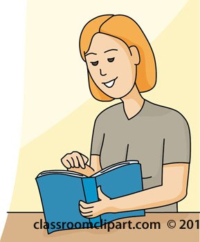 Book Clipart   Woman Reading Book 12412   Classroom Clipart