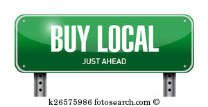 Buy Local Street Sign Illustration Design
