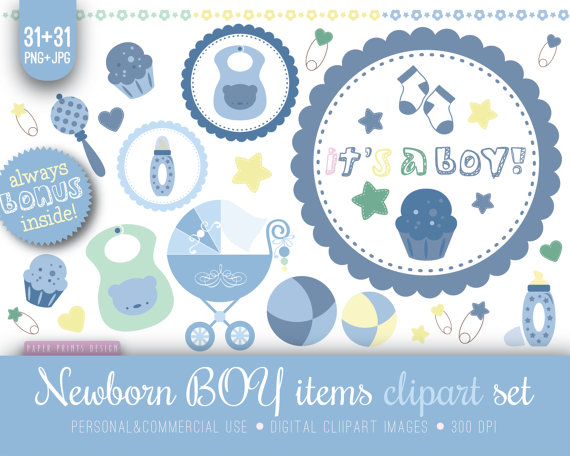 Clipart Newborn Clipart Baby Boy Clipart Blue Baby Clipart Baby