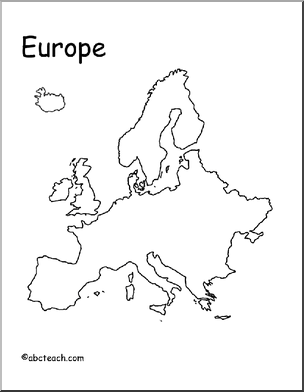 Europe Map Geography Social Studies Continent Europe Member Site