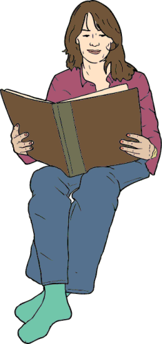 Free Reading Book Clipart   Public Domain Reading Book Clip Art