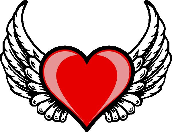Heart Wing Logo Clip Art At Clker Com   Vector Clip Art Online