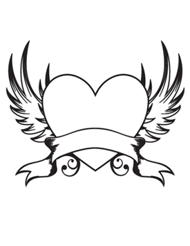 Heart With Wings Clipart - Clipart Suggest