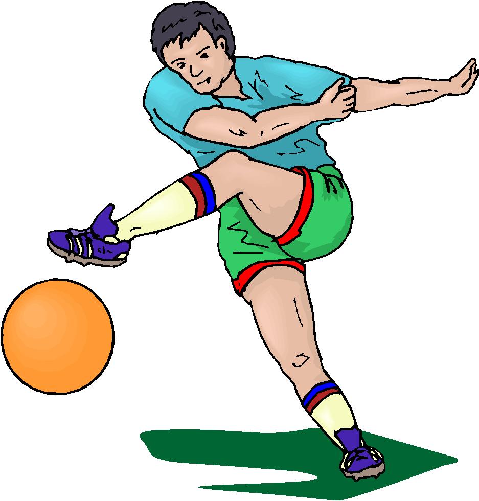 Man Kick Football Free Clipart   Free Microsoft Clipart