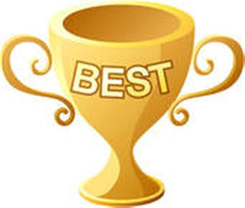 Positive Behavior Clipart Trophy Titled Best