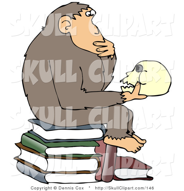 Vector Clip Art Of A Smart School Boy Studying A Molecule Model