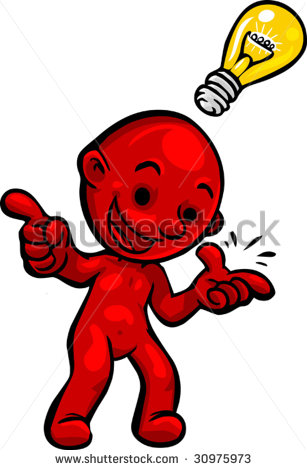 Vector Illustration Of Little Red Smartoon Person Having An Clipart