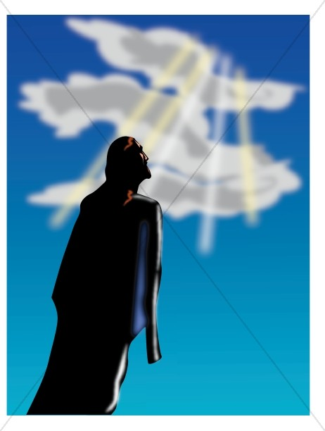 Clip Art Of Jesus Ascending Into Heaven Clipart - Clipart Kid