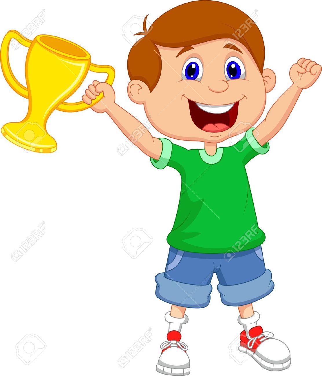 Clip Art Girl Win Clipart - Clipart Kid