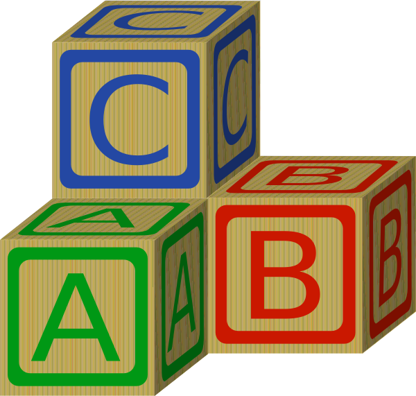 Abc Blocks Clip Art At Clker Com   Vector Clip Art Online Royalty