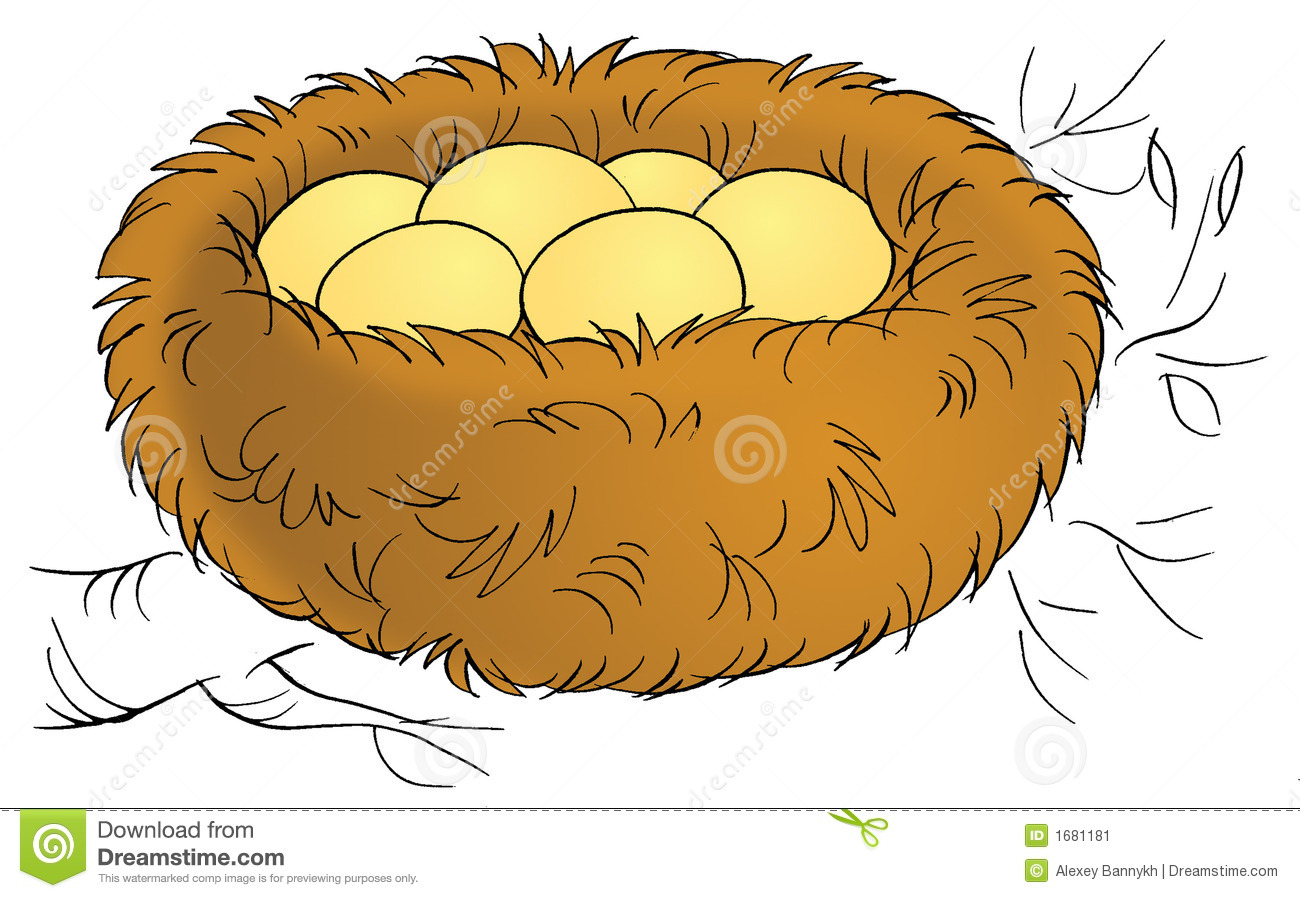 Bird In Nest Clipart Nest Stock Image