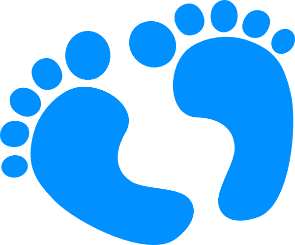 Blue Baby Feet Clip Art At Clker Com   Vector Clip Art Online Royalty