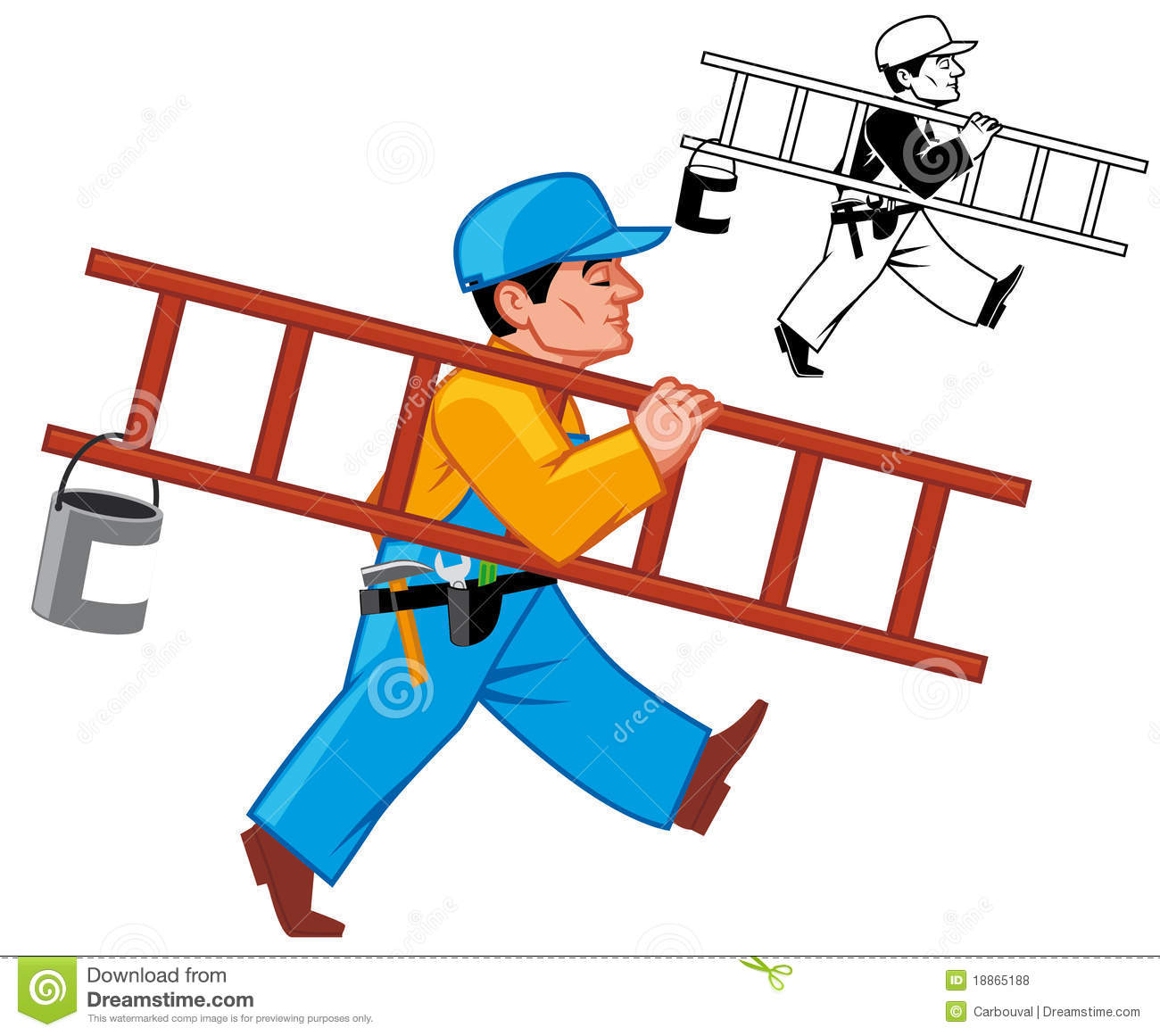 Building Maintenance Man Clipart