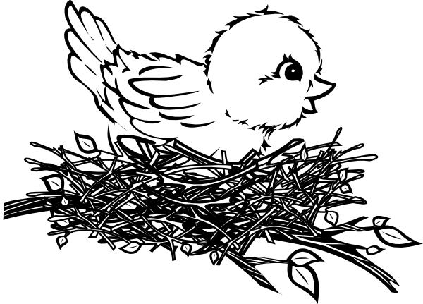 Chick In Nest Clip Art At Clker Com   Vector Clip Art Online Royalty