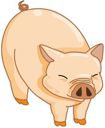 Fat Pig Clipart - Clipart Kid