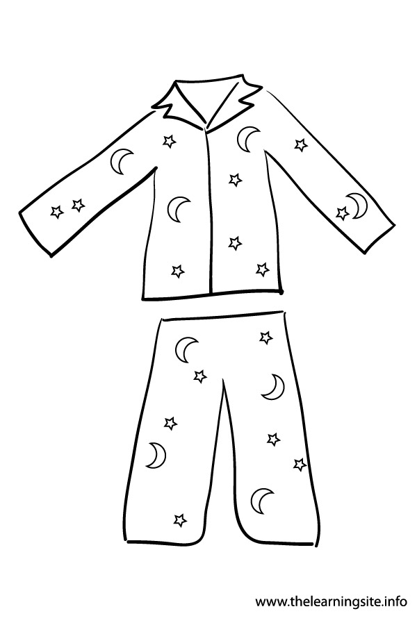 Clip Art Pajamas Colouring Pages #mCc06k - Clipart Kid