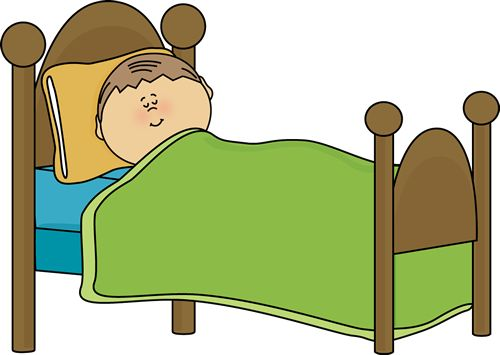 Clipart Of Child S Bed   Child Sleeping Clip Art Image   Child