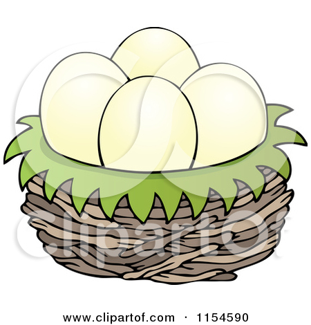 Eggs In A Bird Nest   Clipart