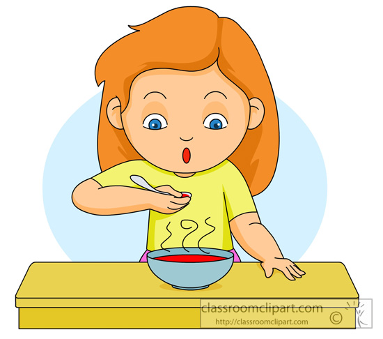 Food   Eating Hot Soup   Classroom Clipart