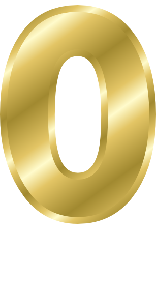 Gold Number 0   Http   Www Wpclipart Com Signs Symbol Alphabets