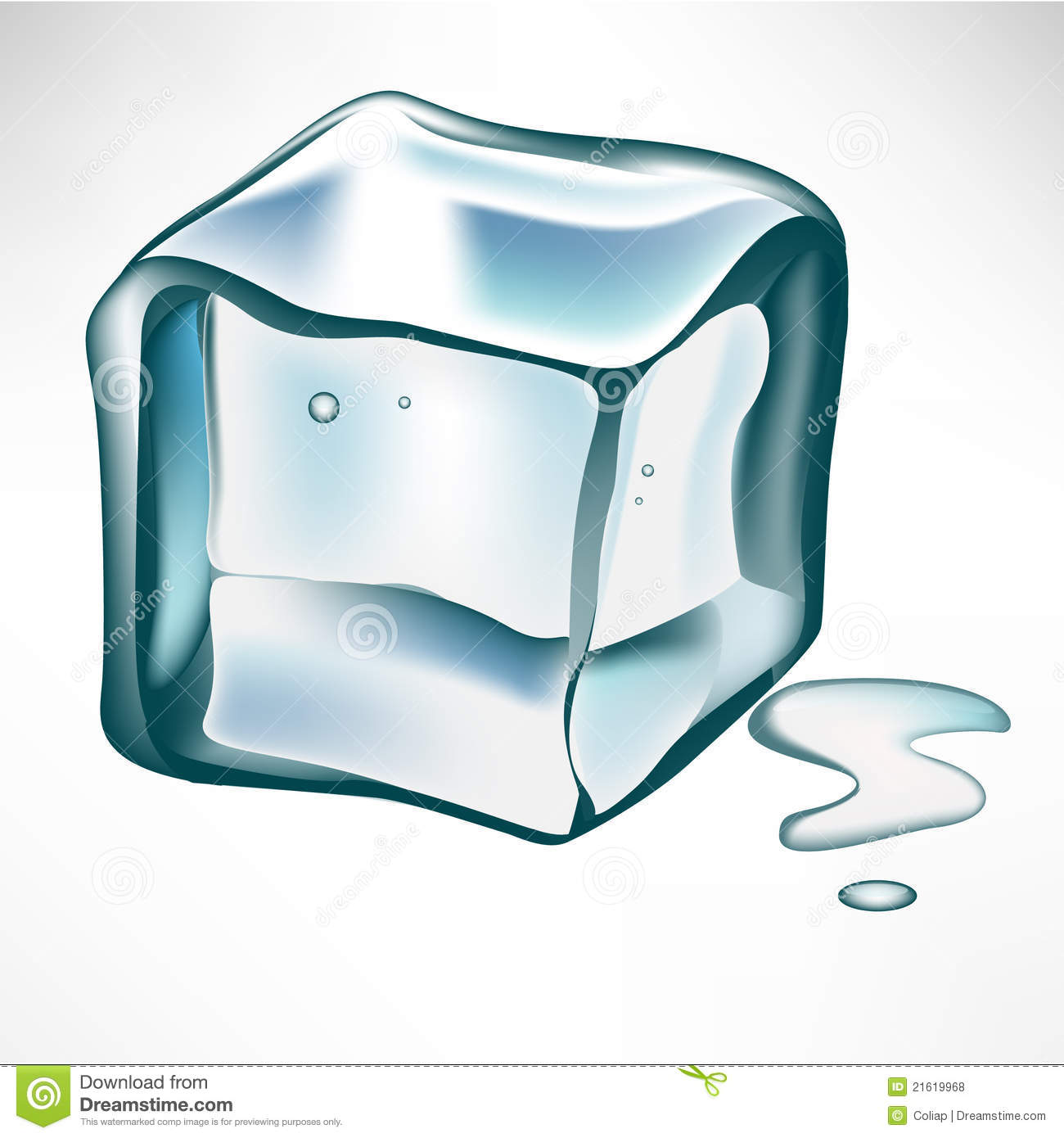 Ice Cube Clipart Single Ice Cube