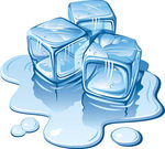 Ice Cubes   Stylized Ice Cubes On White Background Vector