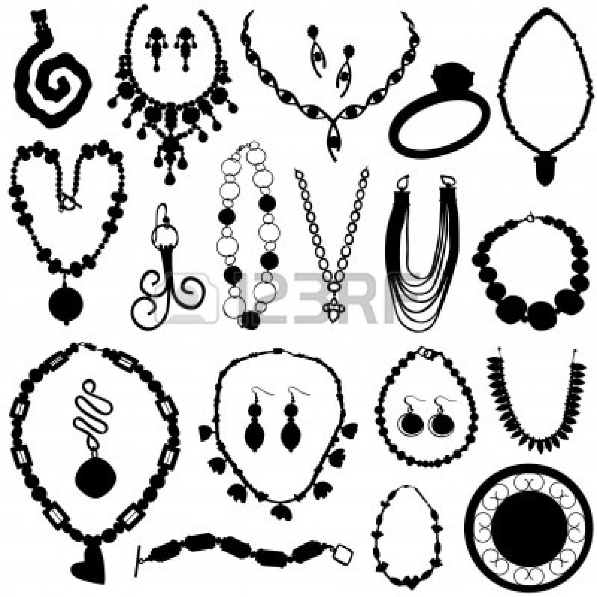 Jewelry Clipart Diamond Earring Clipart