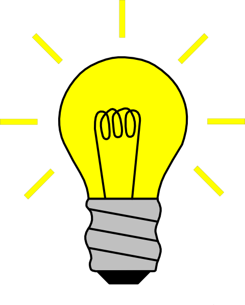 Light Bulb On Clip Art At Clker Com   Vector Clip Art Online Royalty