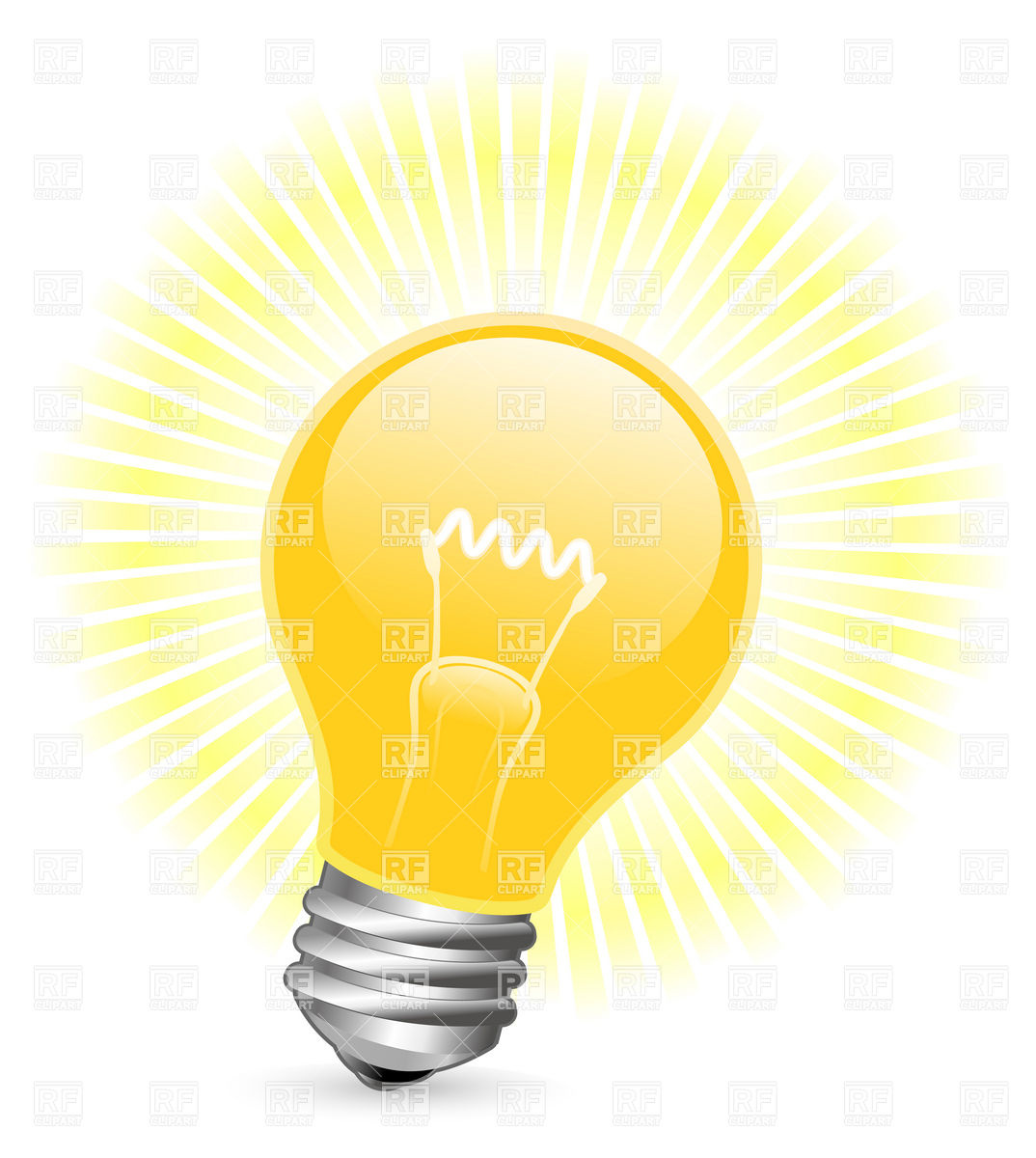 Light Bulb With Beams Download Royalty Free Vector Clipart  Eps