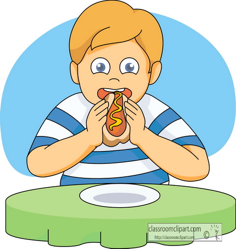 People Eating Clip Art From Hotdog Clipart