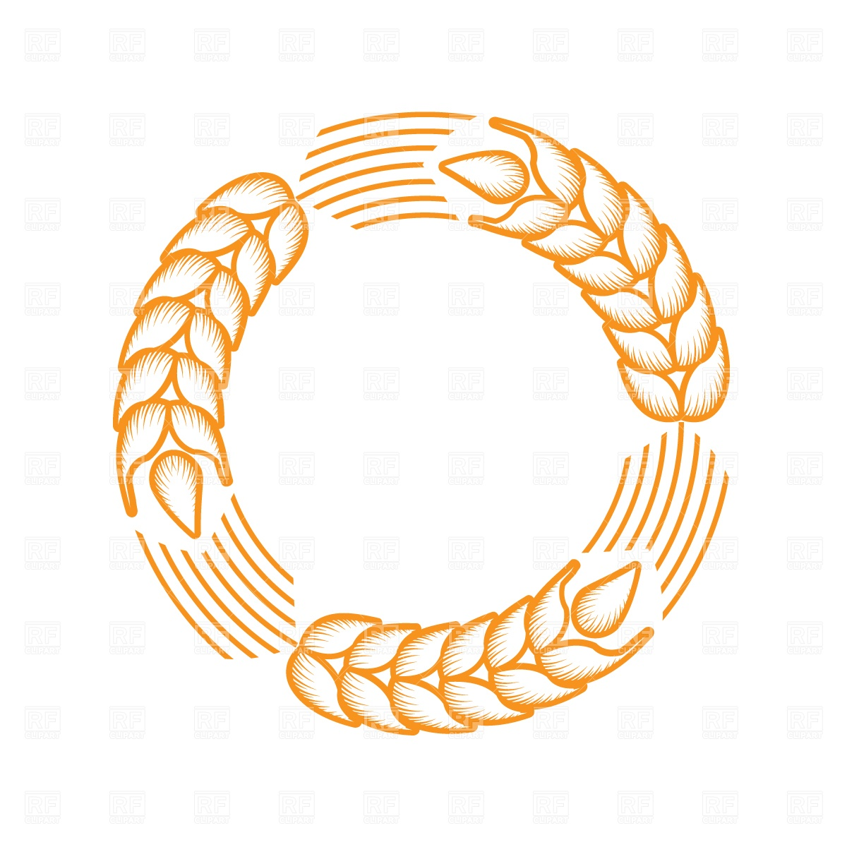 Grain Fee Circle Clip Art